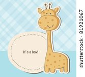 Baby Boy Shower Card With Cute...