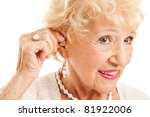 closeup of a senior woman... | Shutterstock . vector #81922006