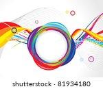 abstract colorful circle wave...