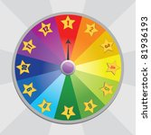 wheel of fortune | Shutterstock .eps vector #81936193