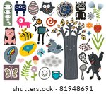 mix of different vector images...   Shutterstock .eps vector #81948691