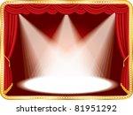 vector horizontal empty stage...   Shutterstock .eps vector #81951292