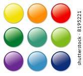vector blank badges in nine...   Shutterstock .eps vector #8195221