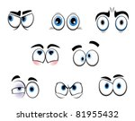 set of cartoon funny eyes for... | Shutterstock .eps vector #81955432