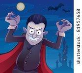 dracula cartoon   Shutterstock .eps vector #81957658