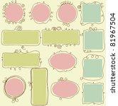 cute frames | Shutterstock .eps vector #81967504