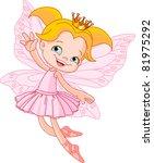 cute fairy ballerina flying | Shutterstock .eps vector #81975292