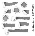collection of gray paper.... | Shutterstock .eps vector #81975895