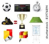 vector soccer icons | Shutterstock .eps vector #81976894