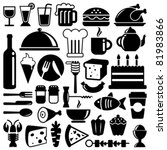 food icons | Shutterstock .eps vector #81983866