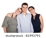 happy smiling brother and his... | Shutterstock . vector #81992791