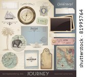 digital scrapbooking kit ... | Shutterstock .eps vector #81995764