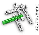 support crossword puzzle - stock photo