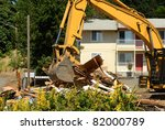 A Large Track Hoe Excavator...