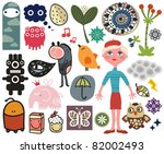 Mix Of Different Vector Images...
