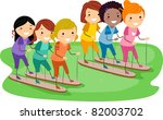 illustration of mothers and... | Shutterstock .eps vector #82003702