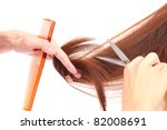 Hair cut - stock photo