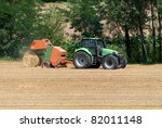 Tractor With Hay Bales To Catc...