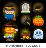 halloween icons | Shutterstock .eps vector #82012078