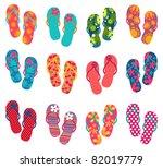 Summer Colorful Flip Flops Set