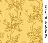 rose seamless flower background ... | Shutterstock . vector #82029154