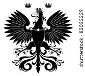 heraldic eagle silhouette... | Shutterstock .eps vector #82032229