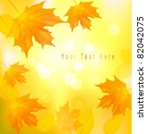 autumn background with yellow... | Shutterstock .eps vector #82042075
