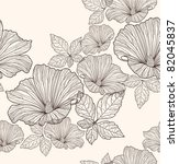 Stock vector seamless floral pattern background with flowers and leafs 82045837