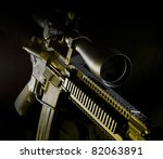 assault rifle on a dark... | Shutterstock . vector #82063891