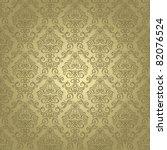 damask seamless pattern on... | Shutterstock .eps vector #82076524