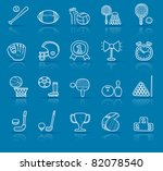 hand drawn sport icon set | Shutterstock .eps vector #82078540