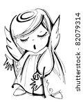little angels singing for...   Shutterstock .eps vector #82079314