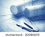 part of architectural project | Shutterstock . vector #82080655