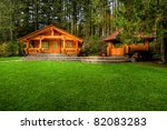 holiday apartment   wooden...   Shutterstock . vector #82083283
