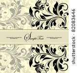 vintage invitation card with... | Shutterstock .eps vector #82083646