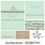 greeting cards set with sea... | Shutterstock .eps vector #82084744