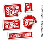 coming soon stickers mega pack. | Shutterstock .eps vector #82086031
