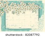 Vintage Floral Background With...