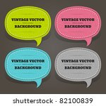 vintage speech bubble set on... | Shutterstock .eps vector #82100839