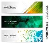 abstract trendy vector banner... | Shutterstock .eps vector #82100866