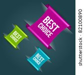 vector best choice message on... | Shutterstock .eps vector #82100890