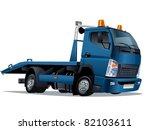 vector cartoon tow truck | Shutterstock .eps vector #82103611