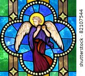 Angel On Stained Glass