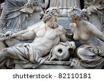 A Male And A Female Statues In...