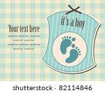 baby boy announcement card.... | Shutterstock .eps vector #82114846