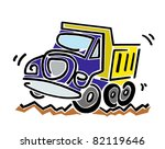 truck driving over rough ground | Shutterstock .eps vector #82119646