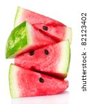 Fresh Watermelon Isolated On...