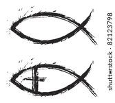 christian religion symbol fish...