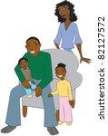 happy african american family | Shutterstock .eps vector #82127572
