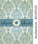 Vintage Blue Damask Invitation...
